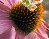 Two Stone Peridot and Topaz Ring
