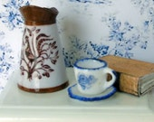 Mini Rooster Pitcher - Vintage China Design - Handmade Scale Miniature (67)