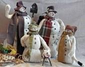Custom Snowman Family