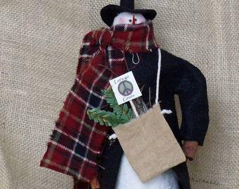 Going Green Handmade Snowman