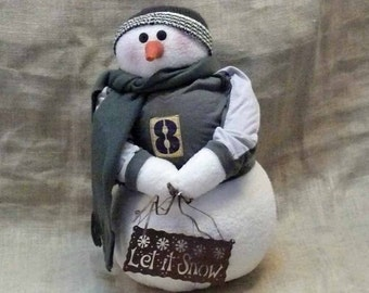 Large Country Fabric Snowman