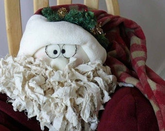 Large Fabric Santa Claus Cris Cringle