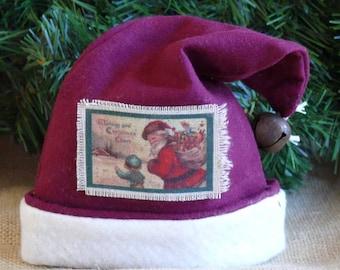Santa Hat Gift Card Holder or Wine Bottle Topper