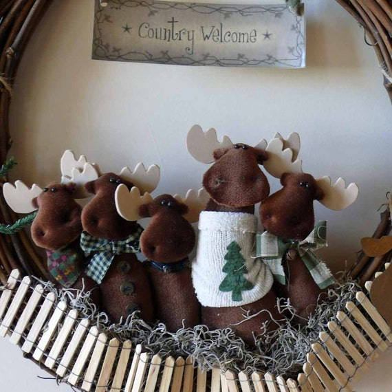 A Mess of Moose Wreath