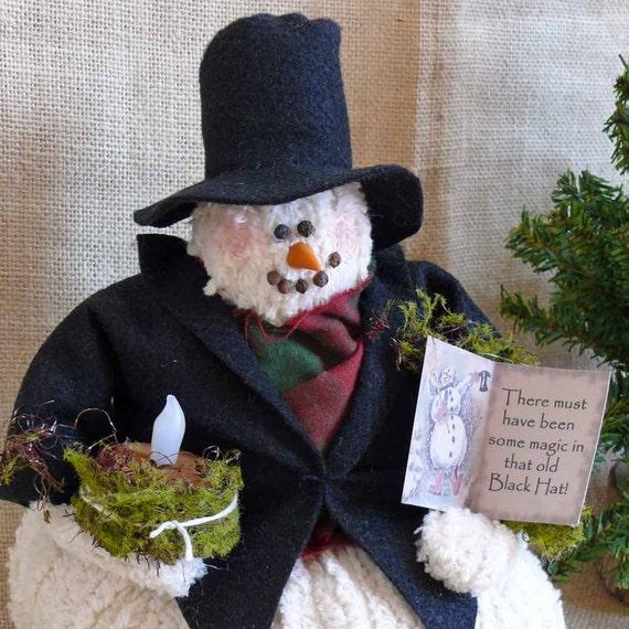 Mr. Frosty Handmade Chenille Fabric Snowman