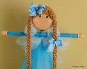 Cinderella Inspired My Princess Tutu Hair Bow Holder-Side Part/No Bangs