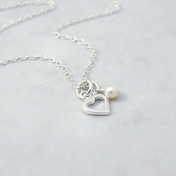 dainty sterling silver necklace with by roseandraven