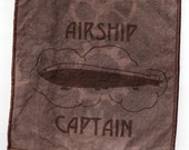 Steampunk Airship Captain Cyanotype Fabric Patch