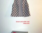 Mocha Checkered Vintage Vest