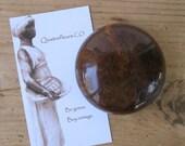 Antique Marbled Brown Bennington Style Ceramic Door Knob