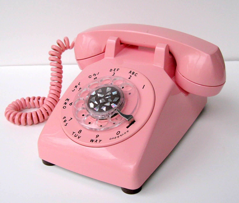 Vintage Bright Pastel Pink ITT Telephone