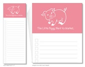 this little piggy went to market notepads