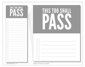 this too shall pass notepads