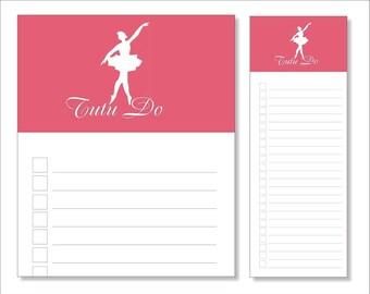 tutu do // notepads // pink // ballerina // to do // list // lines // checkboxes // skel // skel design // skel & co