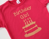 Birthday Girl shirt - (NO INK) 12m to 6y - birthday t shirt, 1st, 2nd, 4th