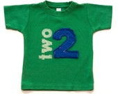 Toddler Birthday shirt, Layered Applique Number, (No Ink) 1st, 2nd, 3rd, 4th, 5th, 6th birthday, 1,2,3,4,5,6,7 Free Shipping