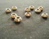 10 Greek Nickel Metal Beads