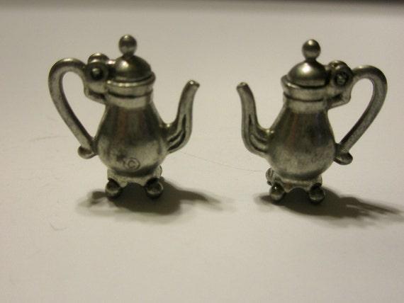 3D Pewter Footed Tea Pot (Set of 2)
