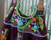 NICA'S MEXICAN EMBROIDERY Dress Bag - Boho, one of a kind - Custom Orders Only
