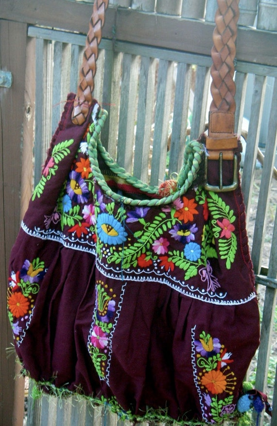 Items similar to nica s mexican embroidery dress bag