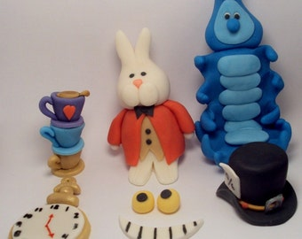 Alice in Wonderland Character Set- Cupcake Toppers
