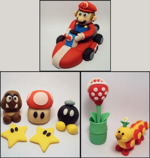 Mario super pack cake decorations for Mario decorations