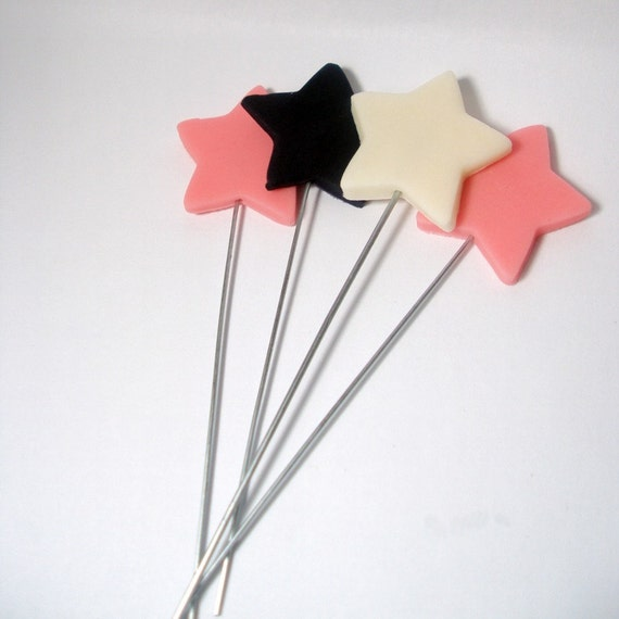 RESERVED FOR  normoski123 Shooting Stars, Stars on Wires Set of 12 (FREE combined shipping)