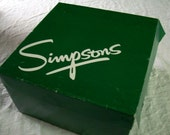 Vintage Green Gift Box from Simpsons Department Store Large Hat or Sweater Size