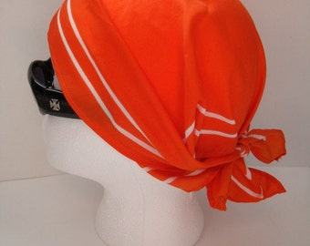 Vintage Brownies Orange Scarf Kerchief or Head Scarf 1980s Girl Guides of Canada Collectible Designed by Alfred Sung