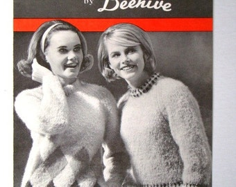 SALE * Vintage Ladies Pullovers Pattern Molana Fancies No.2018 by Beehive Patons