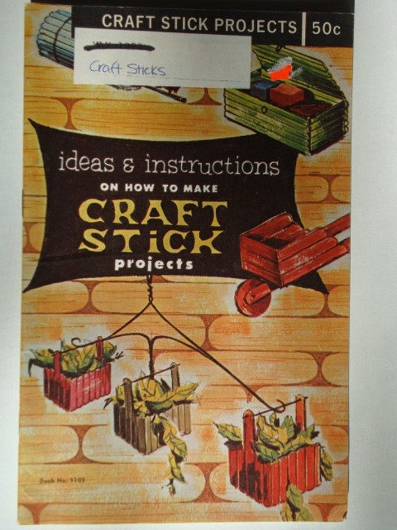 vintage how to make craft stick projects ideas and