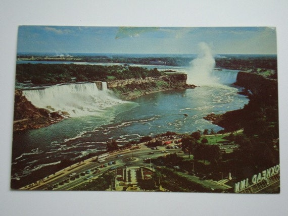Vintage Niagara Falls Postcard Showing American Falls and Canadian Horseshoe Falls Unused