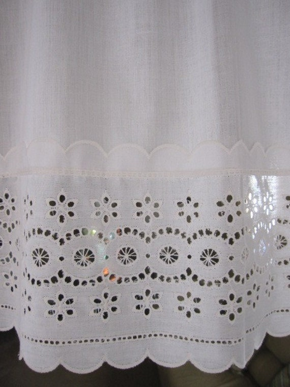Vintage Eyelet Lace Curtains Eyelet Lace Curtain Valances 18
