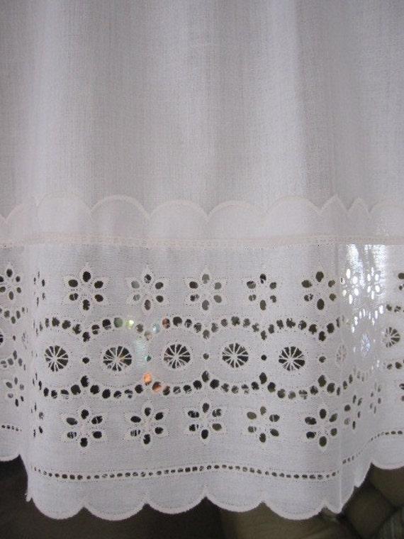 Vintage Eyelet Lace Curtains Eyelet Lace Curtain Valances 18