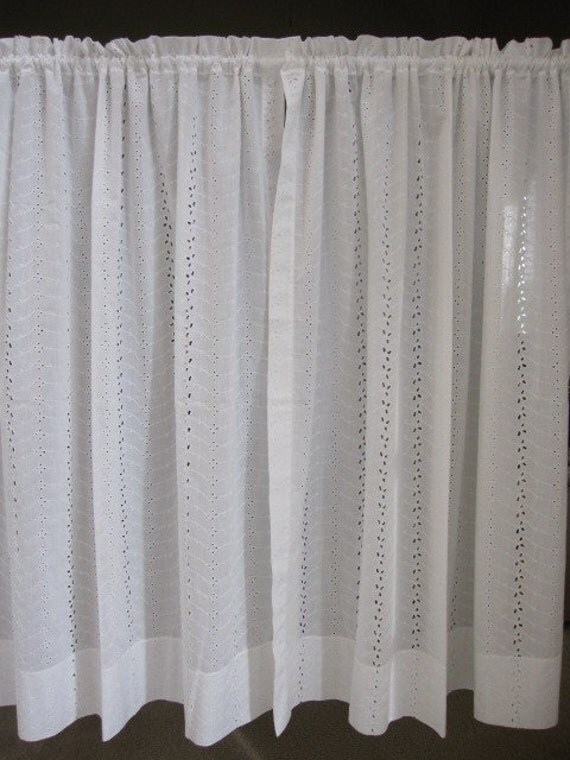 ... Curtains, Eyelet Lace Curtains, Set of 2 White Eyelet Lace Curtains 44