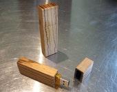 Zebrawood USB Flash Drive (Thumb Drive, Memory Stick, Jump Drive)