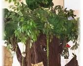Hidden Hollow, 6' Tall Beautiful Sculptured Fantasy Cat Furniture for Spoiled Rotten Kitties.