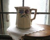 Antique FRENCH COUNTRY Pitcher - Vintage Primitive Vase - Rustic Country Wedding Decor - Farmhouse Decor