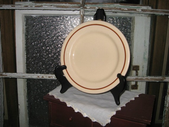 Vintage RESTAURANT WARE Plate - Farmhouse Country Decor - Sterling Desert Tan China