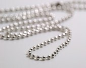 silver plated ball chain necklace cord