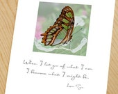 A butterfly's life photo note card