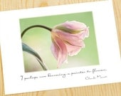 whisper tulip  Monet quote note card