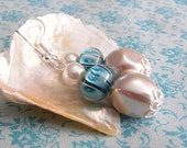 The Birth of Venus faux pearl and glass earrings, beach, summer, goddess, legend, mythology,