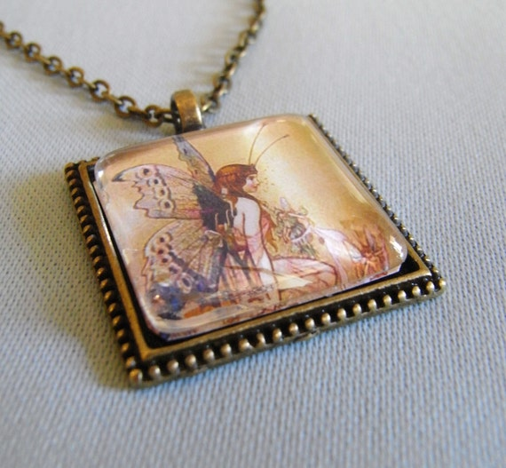 fairy necklace, butterfly wings, fantasy, woodland, fields of gold, Golden Harvest