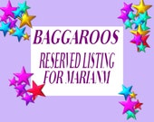 RESERVED LISTING FOR MARIANM - ONLY MARIANM CAN PURCHASE