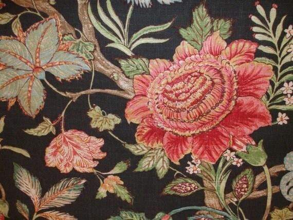 Braemore Textiles Black Floral Fabric