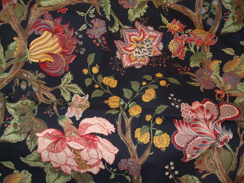 Western Textile Black 100% Cotton Floral Fabric