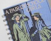 Vintage Book Journal Notebook Sketchbook Scrapbook Girls Purple Upcycled Recycled Repurposed