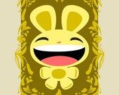 Happy Bunny - Limited Edition Mini Print