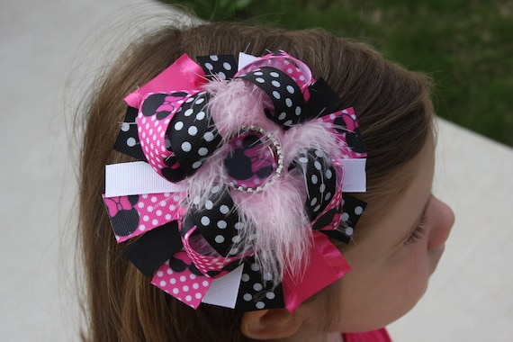 Pink Minnie Mouse Boutique Bow